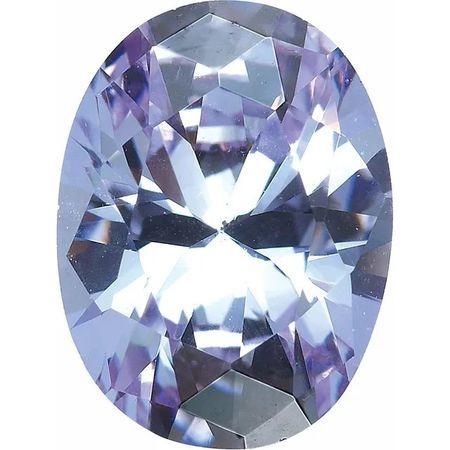 Purple Cubic Zirconia Oval Cut Stones