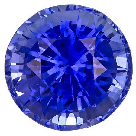 Real Blue Sapphire Gemstone, Round Cut, 2.71 carats, 7.8 mm , AfricaGems Certified - A Beauty of A Gem