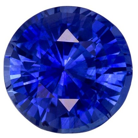 Real Blue Sapphire Gemstone, Round Cut, 3.57 carats, 8.91 x 9.03 x 6.01 mm , GIA Certified - A Low Price