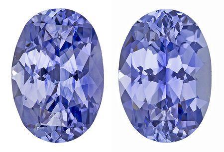 Real Blue Sapphire Gemstones, Oval Cut, 4.26 carats, 9.2 x 6.5 mm Matching Pair, AfricaGems Certified - A Fine Gem Pair