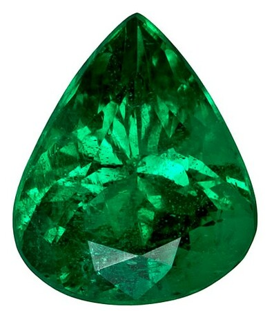 Real Vibrant Emerald Gemstone, Pear Cut, 0.97 carats, 7.4 x 6.2 mm , AfricaGems Certified - A Deal