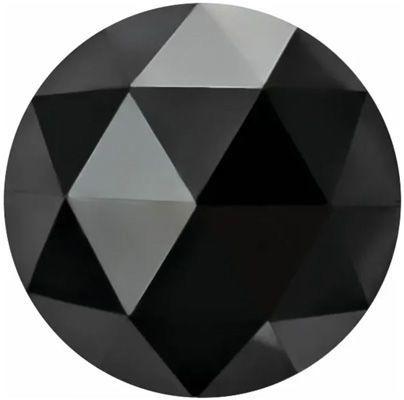 Round Rose Cut Black Enhanced Diamonds
