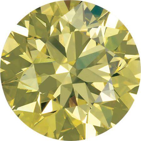 Round Canary Yellow Enhanced Diamonds