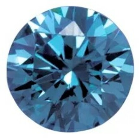 Deep Blue Laboratory Grown Diamonds in Round Shape - 4.40mm