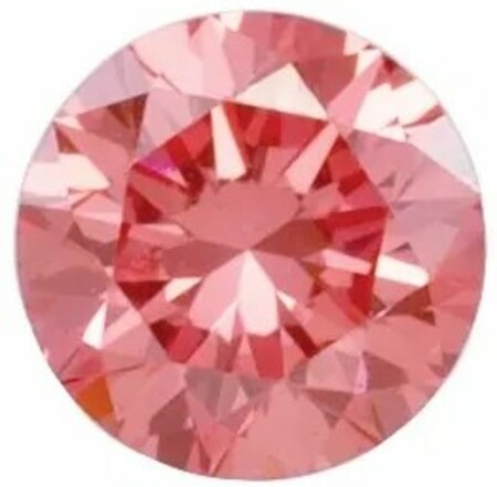 Coral Pink Laboratory Grown Diamonds in Round Shape - 4.40 mm