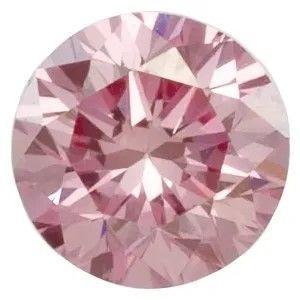 Lavender Pink Laboratory Grown Diamond in Round Shape - 4.40mm