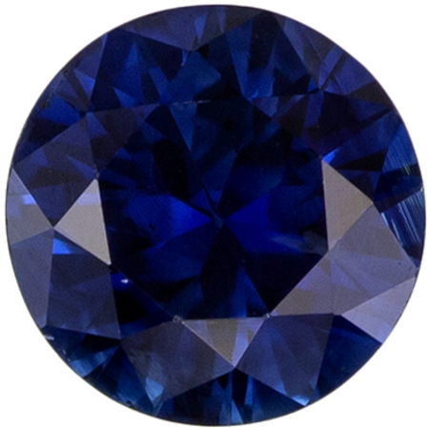 Blue Sapphire Round Cut Loose Gemstone 5.2 mm, 0.65 carats