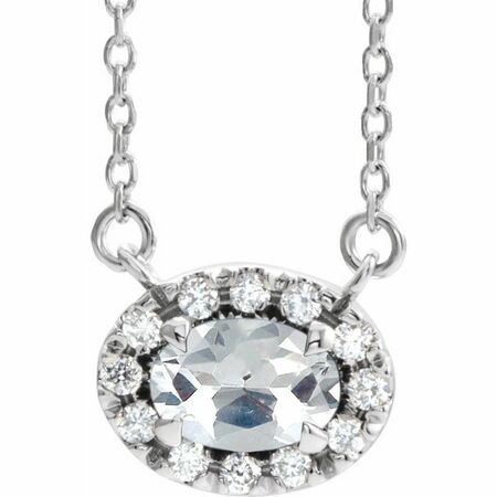 Real Diamond Necklace in Sterling Silver 1/3 Carat Diamond 18