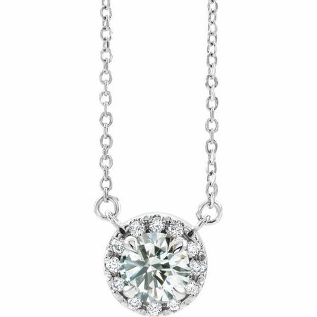 Genuine Diamond Necklace in Sterling Silver 9/10 Carat Diamond 16