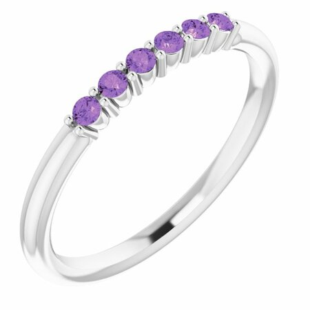 Sterling Silver Amethyst Stackable Ring