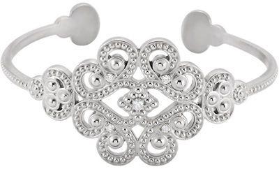 Sterling Silver Granulated 0.17 Carat Round Genuine Diamond 7