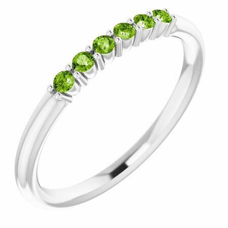 Sterling Silver Peridot Stackable Ring