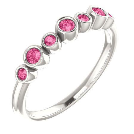 Buy Sterling Silver Pink Tourmaline Bezel-Set Ring