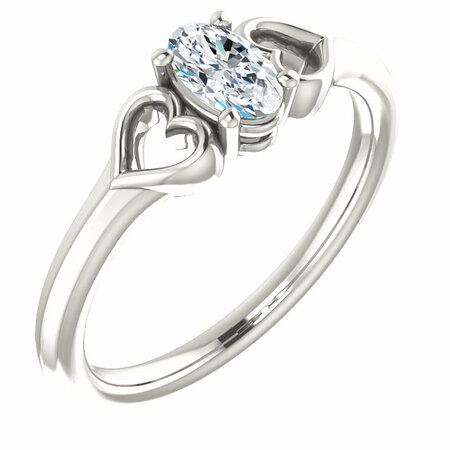 Low Price on Quality Sterling Silver Sapphire Youth Heart Ring