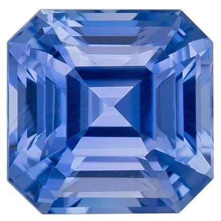 Stunning Blue Sapphire Asscher Shaped Gem - No Heat with GIA Cert, 1.68 carats, 6.34 x 6.3 x 4.55 mm - Deal on Gem