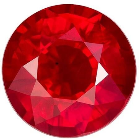 Stunning Ruby Round Shaped Gemstone, 1.2 carats, 6.1mm - Deal on Gem
