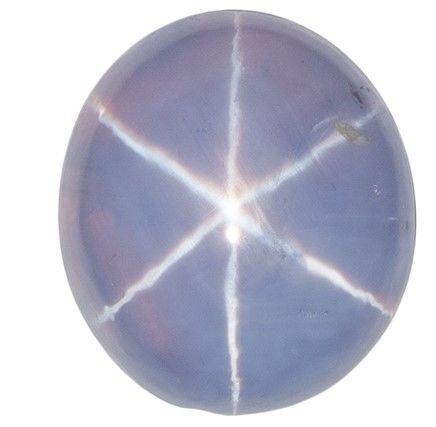 Stunning Star Sapphire Gemstone, 6.16 carats, Oval Shape, 10.6 x 9.4 mm, Unique Beauty