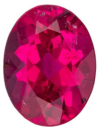 Super Great Buy Red Tourmaline Genuine Gemstone, 1.28 carats, Oval Shape, 8.2 x 6.2 mm