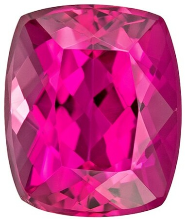 Deal on  Rubellite Tourmaline Genuine Gemstone, 2.61 carats, Cushion Shape, 8.9 x 7.4 mm