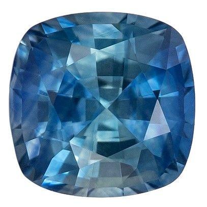 Super Great Buy  Blue Green Sapphire Genuine Gemstone, 0.78 carats, Cushion Shape, 5 mm