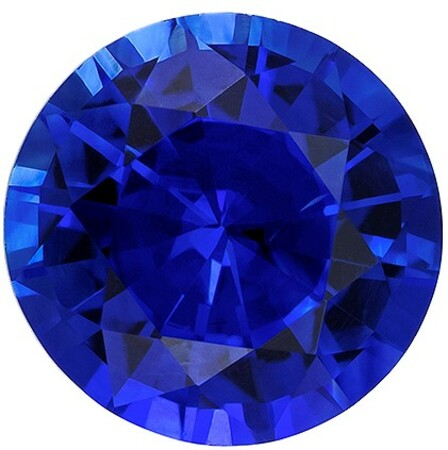 Great Colored Gem  Blue Sapphire Genuine Gemstone, 0.6 carats, Round Shape, 5 mm