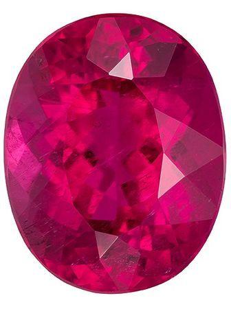 One of A Kind Super Gem  Rubellite Tourmaline Genuine Gemstone, 12.95 carats, Oval Shape, 16.6 x 13.2 mm