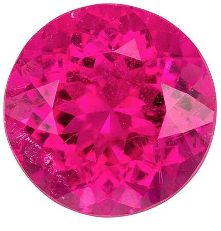 Hard to Find Gem  Red Tourmaline Genuine Gemstone, 9.23 carats, Round Shape, 13.3 mm