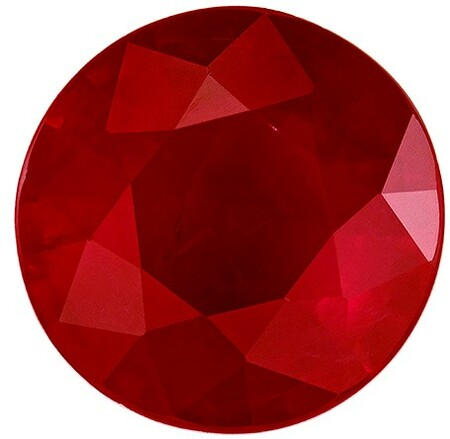 Natural Fiery Ruby Gemstone, Round Cut, 1.64 carats, 7.4 mm , AfricaGems Certified - A Beauty of A Gem
