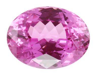 Superb GEM Large Clean Oval Cut Pink Sapphire Gemstone 5.06 carats - USA Cutting