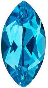 Swiss Blue Topaz Marquise in Grade AAA