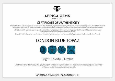Tapered Baguette Cut London Blue Topaz Gems in Grade AAA