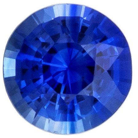 Terrific Buy on Blue Sapphire Gemstone, 0.37 carats, Round Shape, 4.2 mm, A Natural Wonder