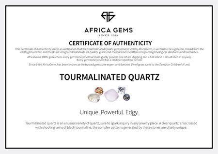 Tourmalinated Quartz in Grade AAA Oval Cut