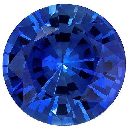 Magnificent Gem  Blue Sapphire Genuine Gemstone, 0.69 carats, Round Shape, 5.4 mm