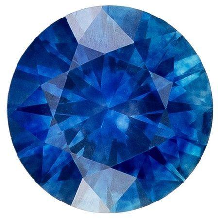 Truly Stunning  Blue Sapphire Genuine Gemstone, 0.7 carats, Round Shape, 5.4 mm