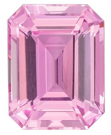 Truly Stunning  Pink Sapphire Genuine Gemstone, 2.06 carats, Emerald Shape, 8.12 x 6.23 x 4.1 mm  with  Certificate