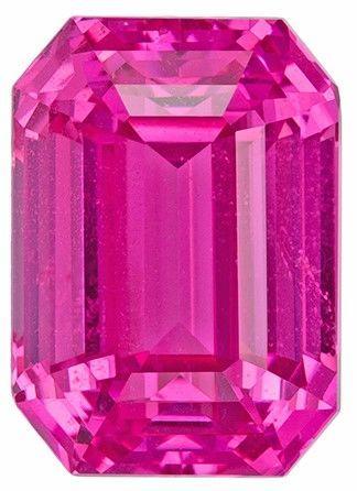 Super Gem Pink Sapphire Gemstone, GIA Certified in 5.03 carats in Rare Emerald Shape, 10.3 x 7.38 x 6.05 mm, Super Rare Quality