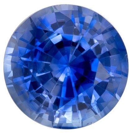 Unset Blue Sapphire Gemstone, Round Cut, 0.55 carats, 4.8 mm , AfricaGems Certified - A Hard to Find Gem