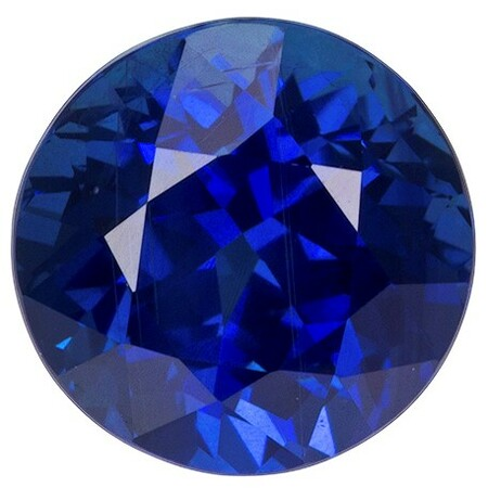 Unset Blue Sapphire Gemstone, Round Cut, 3.55 carats, 8.41 x 8.48 x 6.47 mm , GIA Certified - A Hard to Find Gem