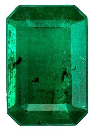 Unset Vibrant Emerald Gemstone, Emerald Cut, 0.49 carats, 6.1 x 4.1 mm , AfricaGems Certified - A Hard to Find Gem