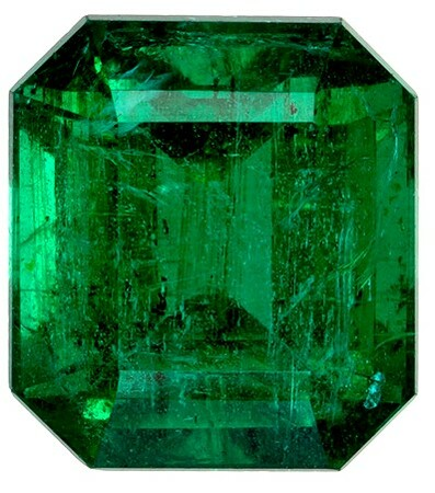 Unset Vibrant Emerald Gemstone, Emerald Cut, 3.48 carats, 9.3 x 8.37 x 6.4 mm , GIA Certified - A Low Price Top Gem