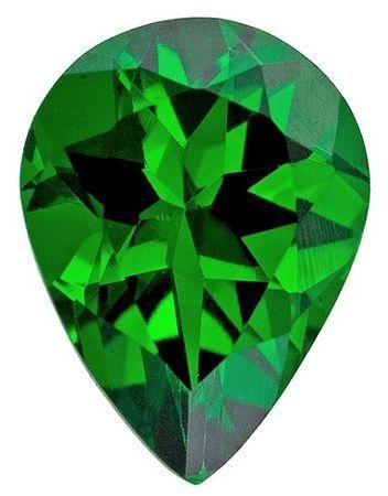 Unset Vivid Tsavorite Gemstone, Pear Cut, 1.34 carats, 8.4 x 6.2 mm , AfricaGems Certified - A Fine Gem