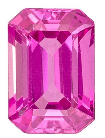 Unset Pink Sapphire Gemstone, Emerald Cut, 1.08 carats, 6.6 x 4.6 mm , AfricaGems Certified - A Wonderful Find!