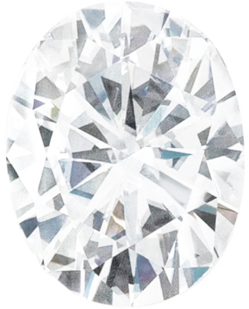 Value Grade Moissanite DEF Color Oval