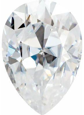 Value Grade Moissanite GHI Color Pear