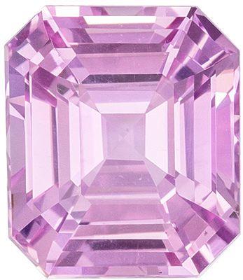 Very Attractive Baby Pink No Heat GIA Certified Pink Sapphire Genuine Gemstone, Emerald Cut, Medium Baby Pink, 7.4 x 6.39 x 4.44 mm, 2.03 carats