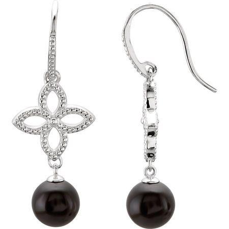 Genuine Sterling Silver Onyx Earrings