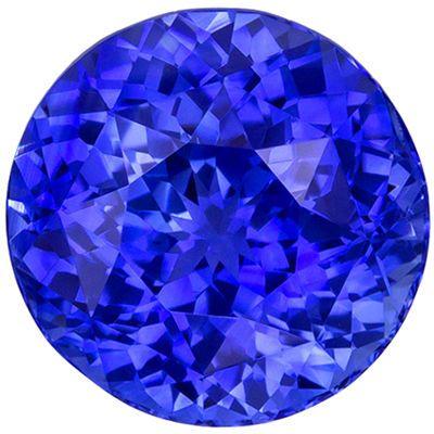 Wonderful Blue Sapphire Genuine Gemstone, 7.6 mm, Medium Rich Blue, Round Cut, 2.65 carats
