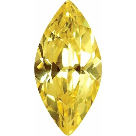 Yellow Cubic Zirconia Marquise Cut Stones