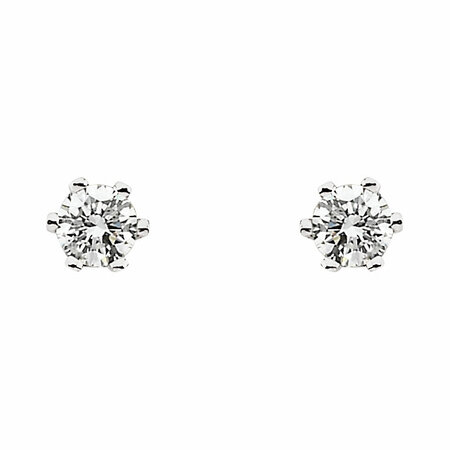 1/4 Carat Total Weight Diamond Friction Post Stud Earrings